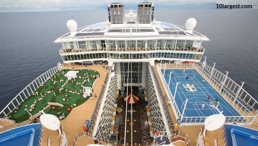 Oasis of the Seas is the 2nd largest cruise ship.