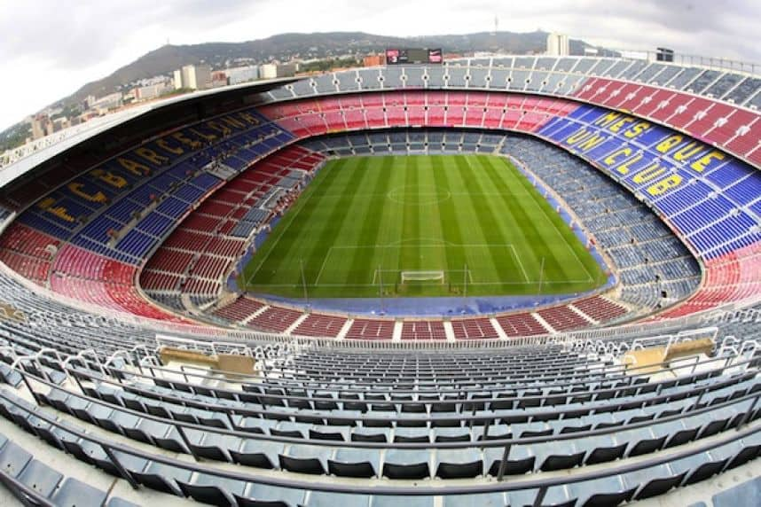 Camp Nou - very large football stadium
