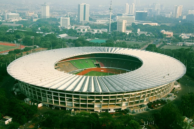 Gelora Bung Karno Main Stadium - second lbiggest soccer stadium