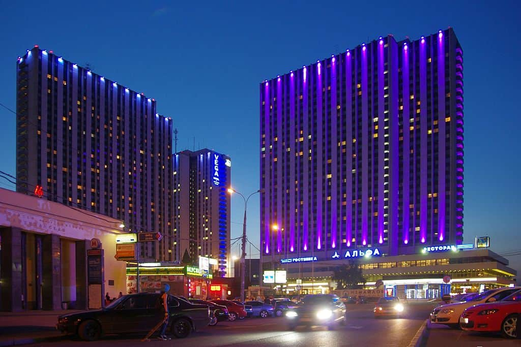 Izmailovo, Moscow (night view)