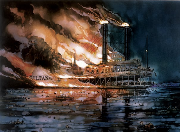 sultana disaster - illustration