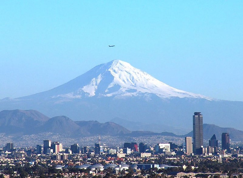 Mount Popocatepetl, Mexico City