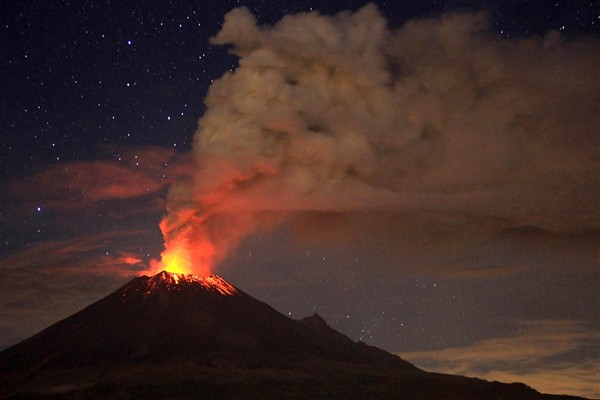 Mount Popocatepetl - eruption view